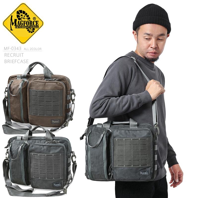 MAGFORCE マグフォース MF-0343 Recruit Briefcase ショルダーバッグ / 容量13L 重量805g ブリーフケース 500Dナイロン【キャッシュレス5%還元対象品】