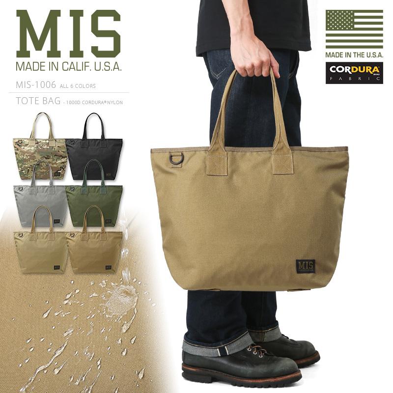 MIS エムアイエス MIS-1006 CORDURA NYLON トートバッグ / ショルダーバッグ MADE IN USA《WIP》ミリタリー 軍物 メンズ 男性 ギフト プレゼント(クーポン対象外)アメリカ製 MIL-SPEC ミルスペック