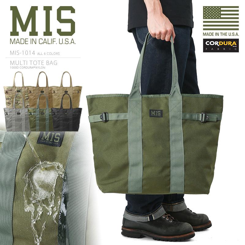 MIS エムアイエス MIS-1014 CORDURA NYLON マルチトートバッグ / ショルダーバッグ MADE IN USA《WIP》ミリタリー 軍物 メンズ 男性 ギフト プレゼント(クーポン対象外)アメリカ製 MIL-SPEC ミルスペック