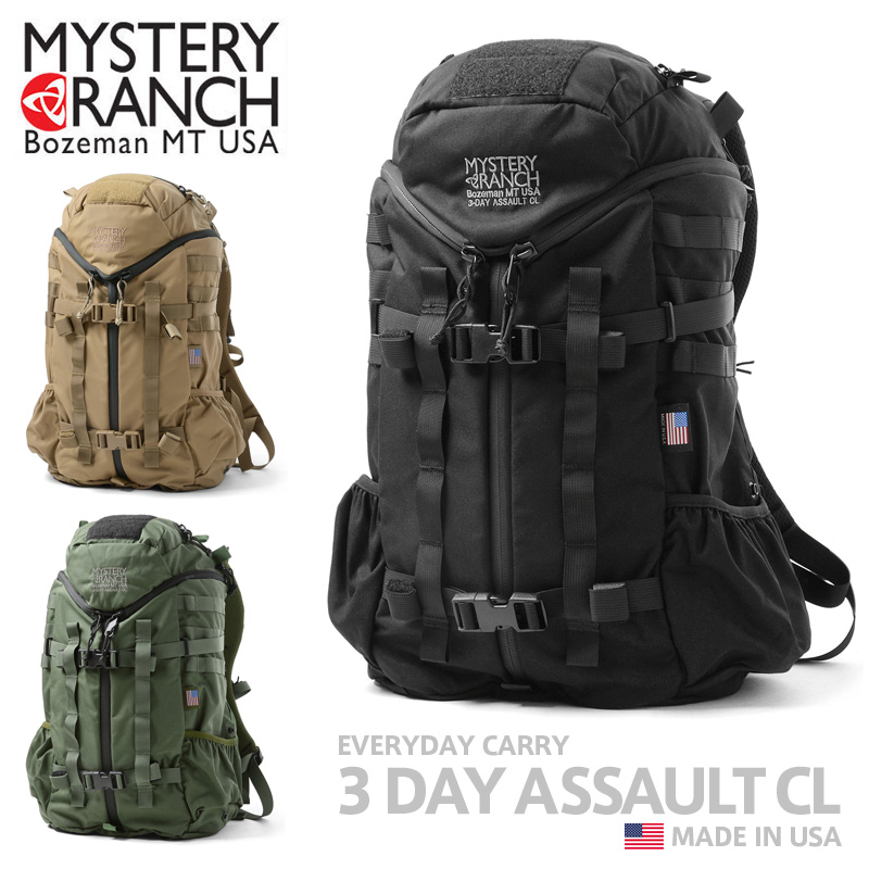 MYSTERY RANCH ミステリーランチ 3 DAY ASSAULT CL 3デイアサルト クラシック バックパック MADE IN USA【クーポン対象外】《WIP》ミリタリー 軍物 メンズ 男性 ギフト プレゼント