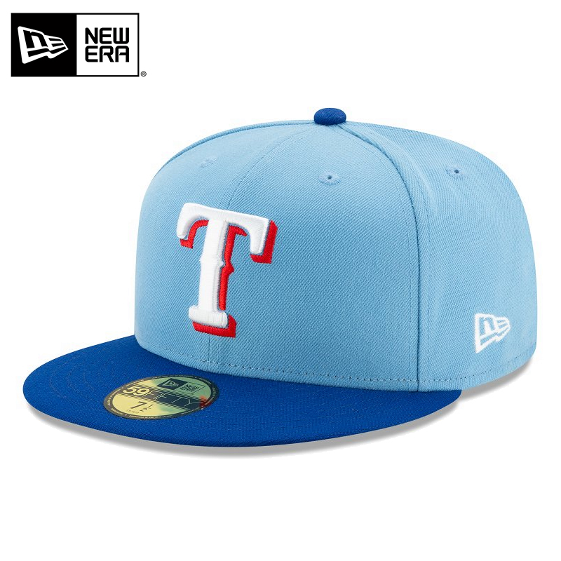 NEW ERA テキサス レンジャーズのキャップです 高品質新品 10%OFF大特価 メーカー取次 ニューエラ 59FIFTY MLB On-Field キャップ 12504363 上質 ライトブルーXブルー レディース 野球帽 T 男女兼用 メンズ 帽子 レンジャーズ