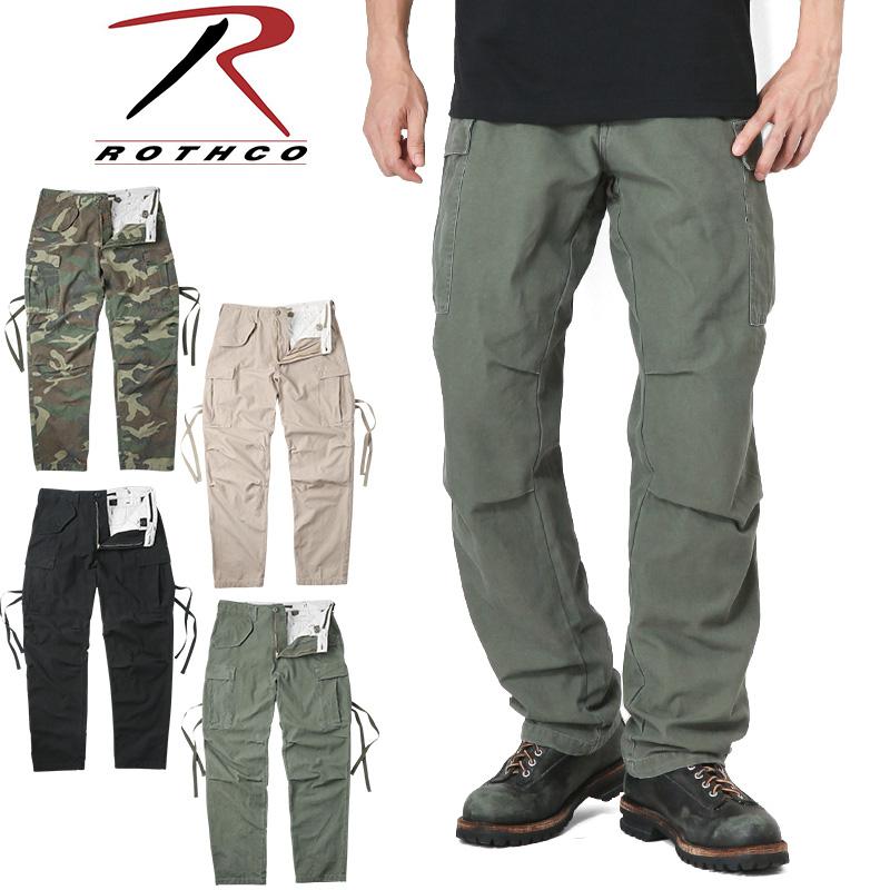 【21%OFFセール開催中】ROTHCO ロスコ M-65フィールドカーゴパンツ ヴィンテージ加工/ミリタリー 軍物 メンズ  【キャッシュレス5%還元対象品】
