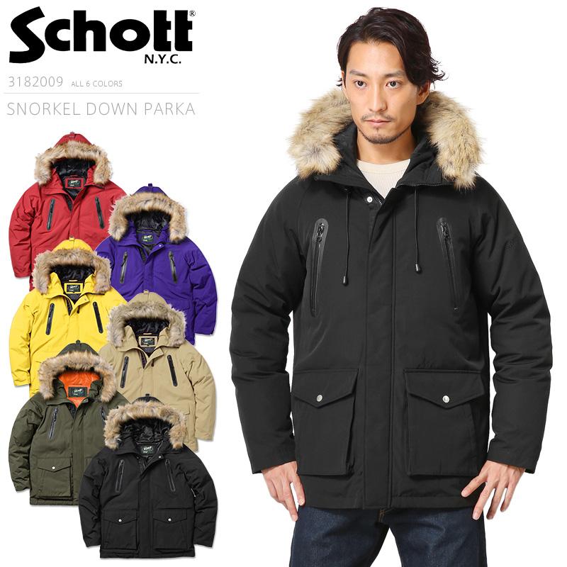 Schott ショット 3182009 SNORKEL ダウン パーカー《WIP》ミリタリー 軍物 メンズ 男性 ギフト プレゼント