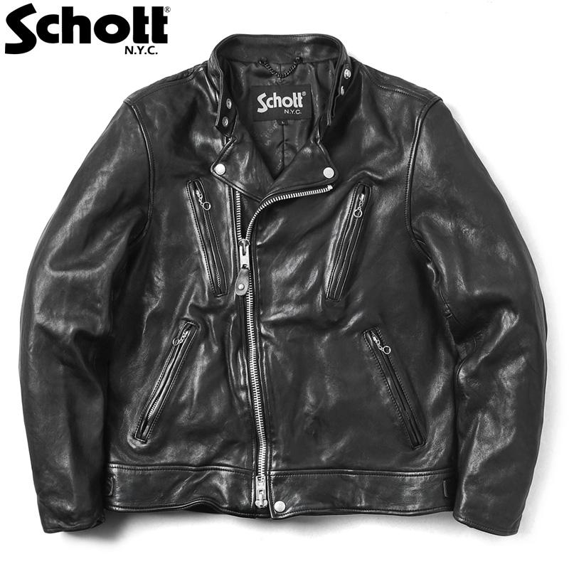 【今だけポイント10倍】Schott ショット 3191064 ダブルブレスト ライダースジャケット【クーポン対象外】【キャッシュレス5%還元対象品】
