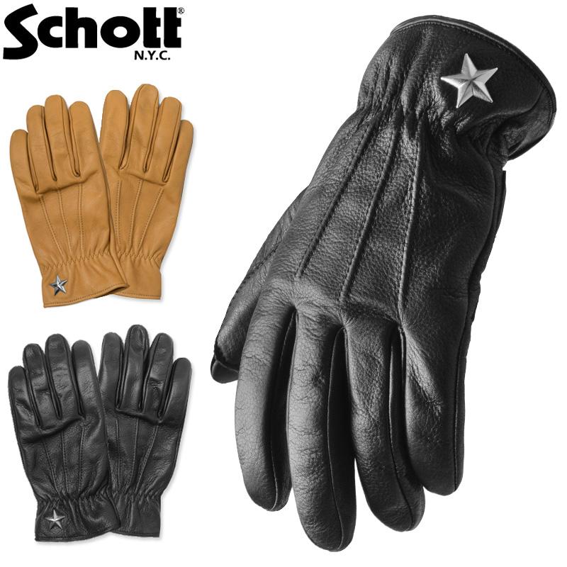Schott ショット 3169030 ONE STAR GLOVE ワンスター グローブ /【クーポン対象外】ミリタリー 軍物 メンズ 男性 ギフト プレゼント