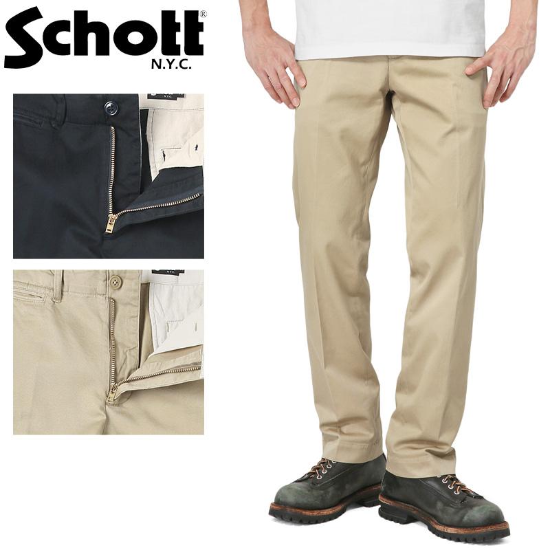 Schott ショット 3176007 チノ アーバン パンツ /【クーポン対象外】ミリタリー 軍物 メンズ  【キャッシュレス5%還元対象品】