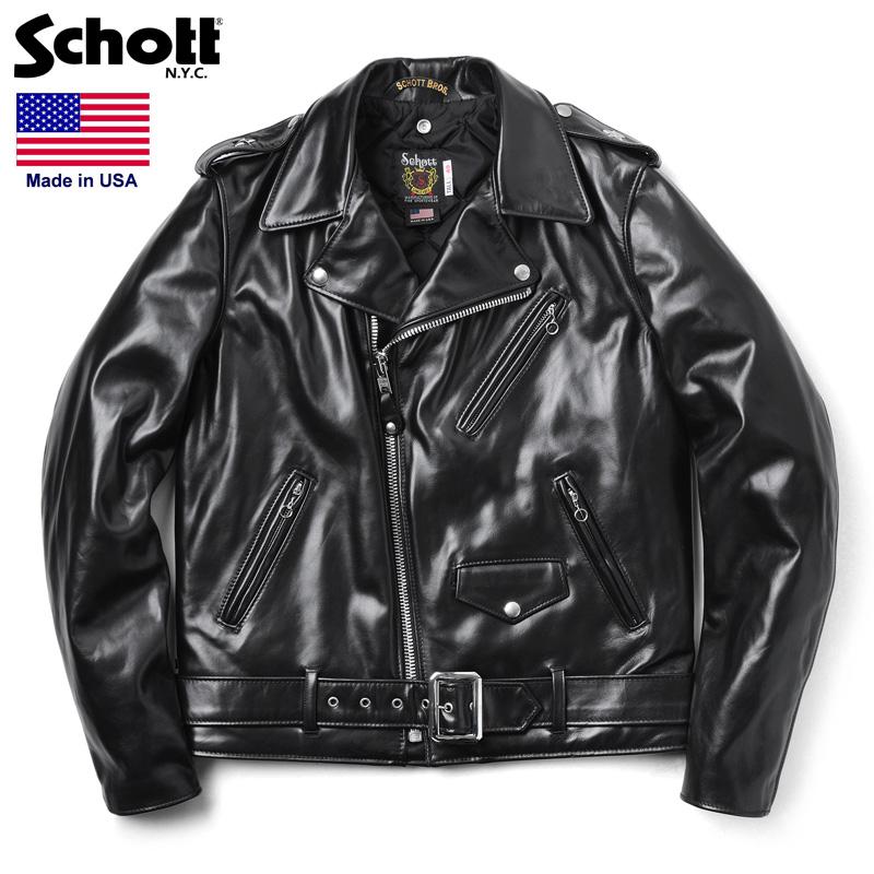 Schott ショット 613UHT HORSEHIDE ONE STAR ライダースジャケット TALL【7416】 /【クーポン対象外】ミリタリー 軍物 メンズ 男性 ギフト プレゼント