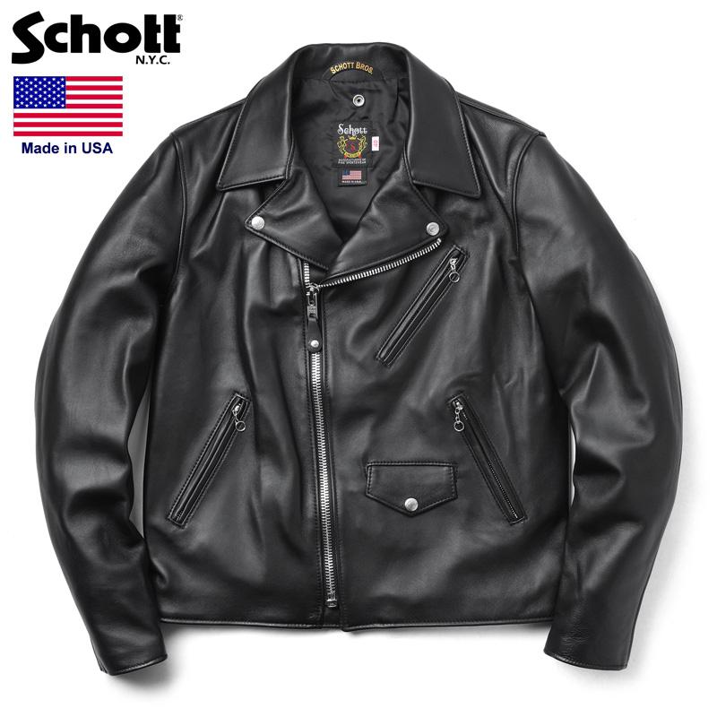 Schott ショット 228US ラムレザー ライダースジャケット【7525】 /【クーポン対象外】ミリタリー 軍物 メンズ 男性 ギフト プレゼント