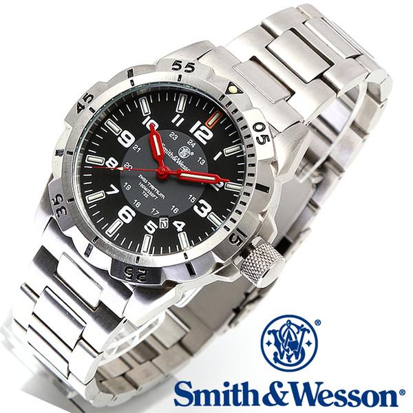 【クーポン対象外】 Smith & Wesson スミス&ウェッソン EMISSARY WATCH 腕時計 SILVER SWISS TRITIUM SWW-88-S《WIP》ミリタリー 軍物 メンズ 男性 ギフト プレゼント