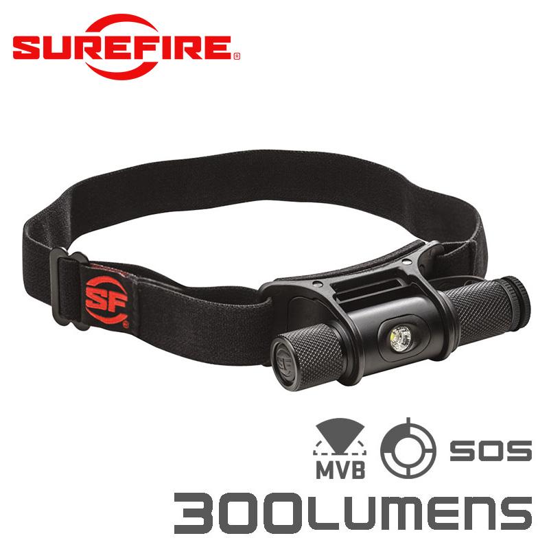 SUREFIRE シュアファイア MINIMUS Variable-Output LEDヘッドランプ / フラッシュライト / 300ルーメン(HS2-MV-A-BK)【クーポン対象外】【キャッシュレス5%還元対象品】