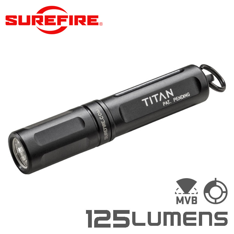 SUREFIRE シュアファイア TITAN Ultra-Compact Dual-Output LED キーチェーンフラッシュライト / 125ルーメン(TITAN-A)【クーポン対象外】