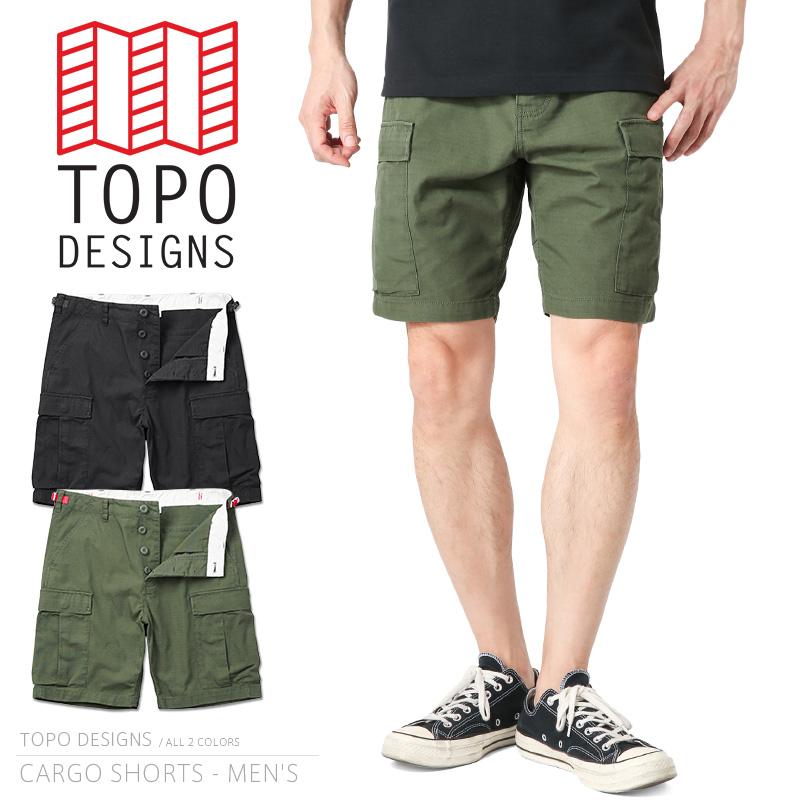 【15%OFFクーポン対象品】TOPO DESIGNS トポデザイン CARGO SHORTS カーゴショーツ / BDUショートパンツ