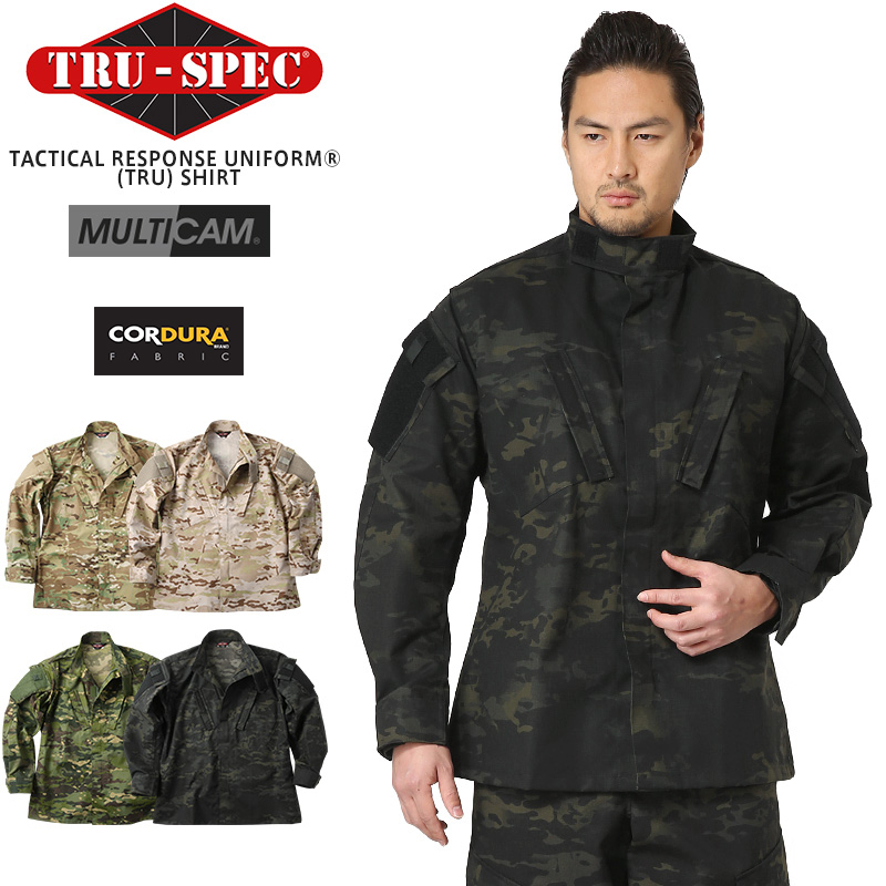 TRU-SPEC トゥルースペック Tactical Response Uniform ジャケット(シャツ) MULTICAM FAMILY(1265 MultiCam / 1325 MultiCam Arid / 1327 MultiCam Tropic / 1229 MultiCam Black)【クーポン対象外】【Px】【キャッシュレス5%還元対象品】