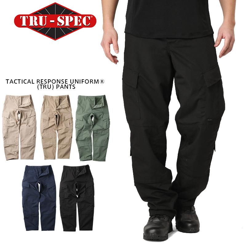 TRU-SPEC トゥルースペック Tactical Response Uniform パンツ SOLID COLOR(1287 KHAKI / 1271 COYOTE / 1285 OLIVE DRAB / 1283 NAVY / 1289 BLACK)【クーポン対象外】【Px】ミリタリー 軍物 メンズ  【キャッシュレス5%還元対象品】
