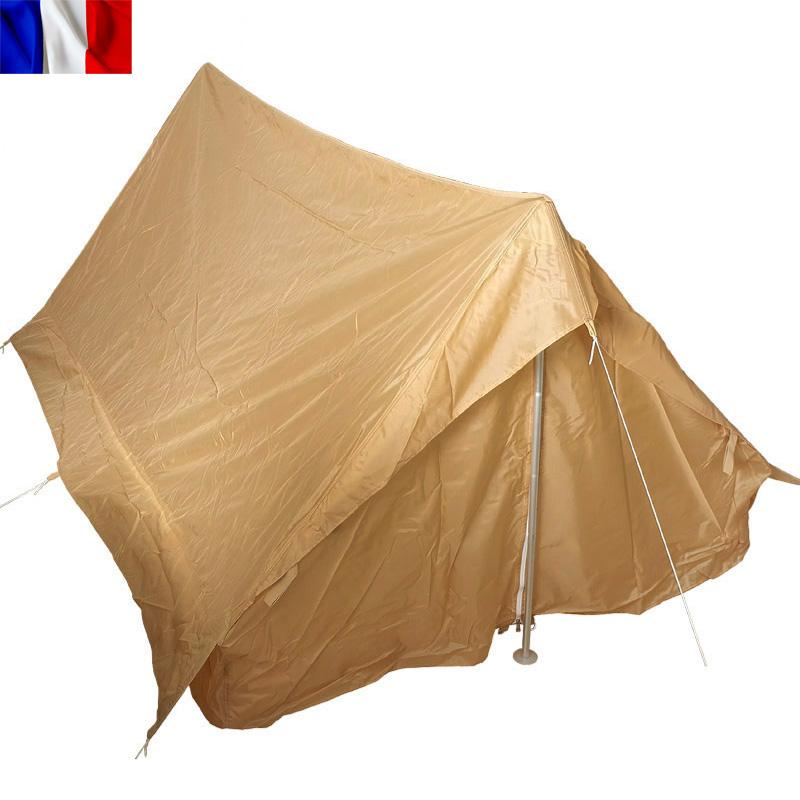 【10%OFF】実物 新品 フランス軍 F1 テントセット 2人用 ベージュ