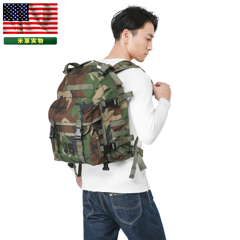 【25%OFFセール開催中】実物 新品 米軍 MOLLE II 3DAY アサルトパック WOODLAND