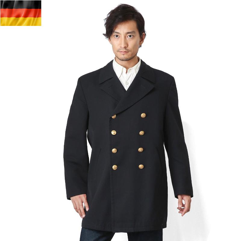 【Xmas期間限定25%OFF大特価】実物 ドイツ軍 NAVY オーバーコートミリタリー 軍物 メンズ  【キャッシュレス5%還元対象品】