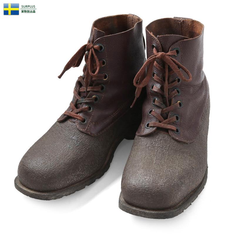 実物 USED スウェーデン軍 M-59 スノーブーツ / ミリタリー ユーロミリタリー 軍物 ミリタリーブーツ【キャッシュレス5%還元対象品】【Sx】
