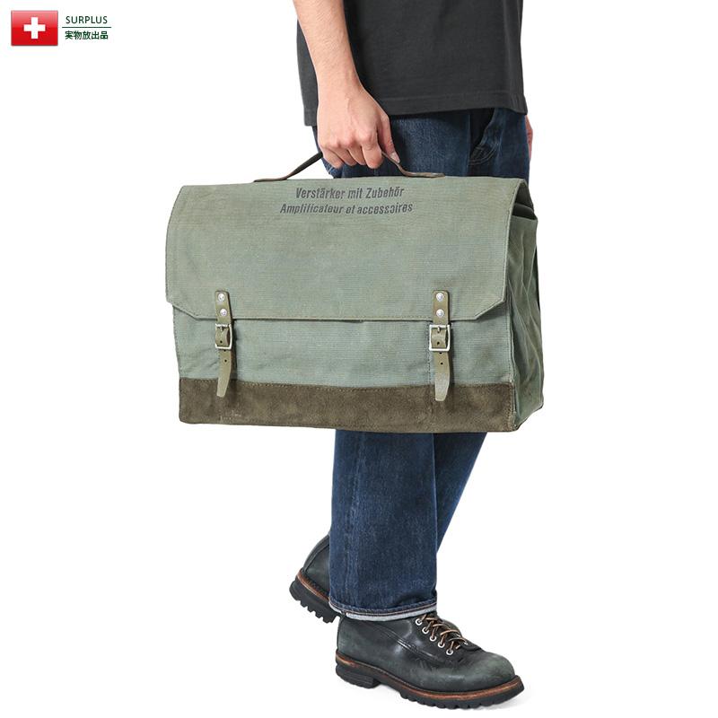 実物 USED スイス軍 ヴィンテージ AMPLIFIER(アンプリファイア)ツールバッグ【クーポン対象外】【キャッシュレス5%還元対象品】