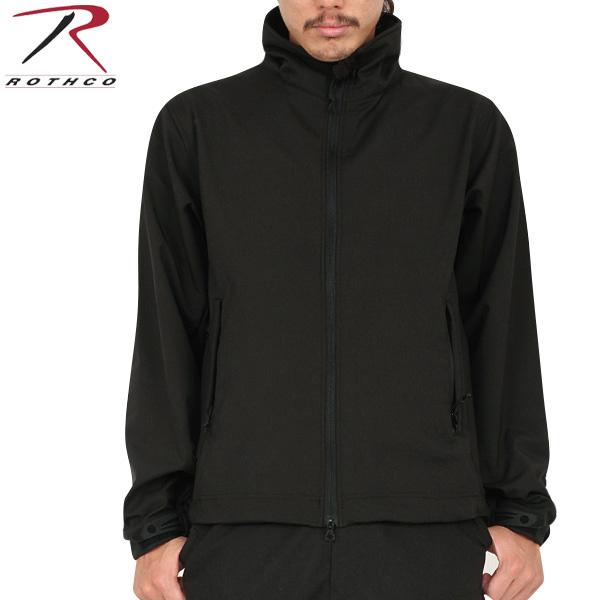 ROTHCO ロスコ 9834 Tactical Uniform ソフトシェルジャケット BLACK/ ミリタリー 秋 冬 服 春 【キャッシュレス5%還元対象品】