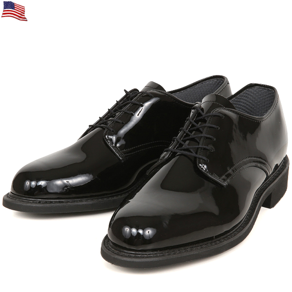 Black dress uniform shoes holder