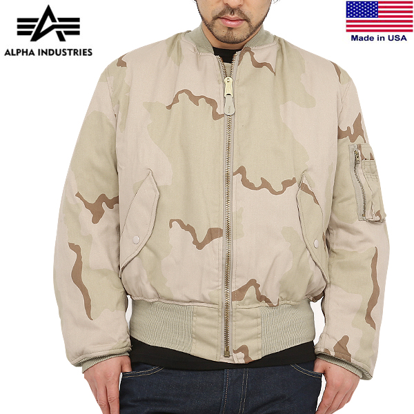 quality design c3135 3a96b ALPHA INDUSTRIES alpha MADE IN USA MA-1 flight jacket 3COLOR DESERT 3 color  dessert duck men military outer camouflage camouflage military jacket ...