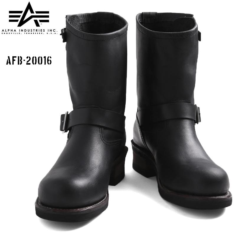 【20%OFFセール開催中】ALPHA INDUSTRIES アルファ AFB-20016 エンジニアブーツ ブラック 《WIP》 ミリタリー 男性 ギフト プレゼント