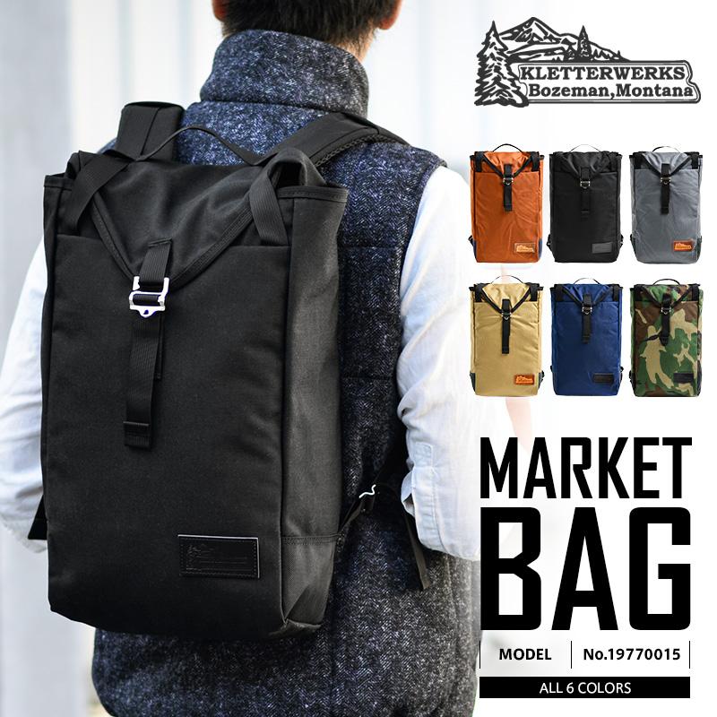 【42%OFF大特価】Kletterwerks クレッターワークス MARKET BAG(マーケットバッグ) 19770015 メンズ レディース バッグ リュックサック バックパック デイパック PC対応 クレッターワークス リュックカモフラ《WIP》 ミリタリー【クーポン対象外】