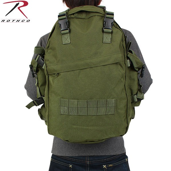 【20%OFFセール開催中】メンズ ミリタリー バッグ / ROTHCO ロスコ G.I. PLUS SPECIAL FORCES アサルトバックパック OD 【ミリタリーバック】《WIP》 ミリタリー 男性 旅行 ギフト プレゼント