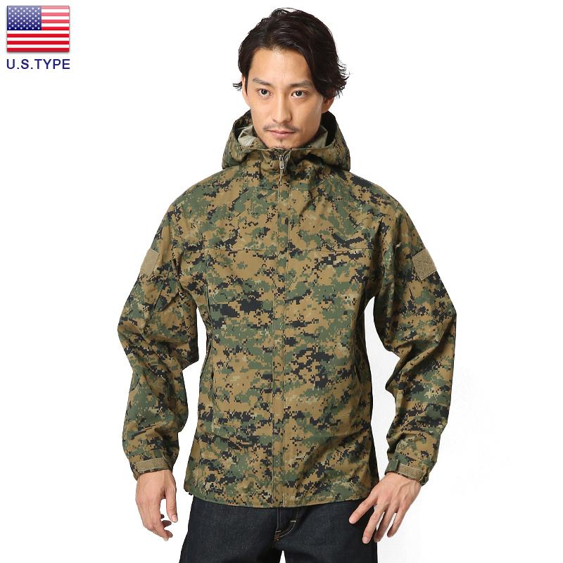 U.S.TYPE ハードシェルジャケット WOODLAND MARPAT 【クーポン対象外】ミリタリー 軍物 メンズ