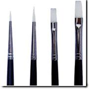 未使用品 おすすめ特集 イタチ風ナイロン短軸筆 平筆2号 単品