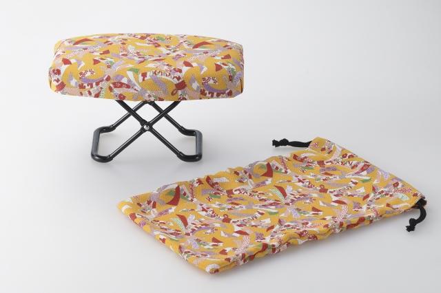 日本製 送料無料 正座椅子 玲 橙 ゆったりサイズ RY-10 束ねのし 贈答品 現品