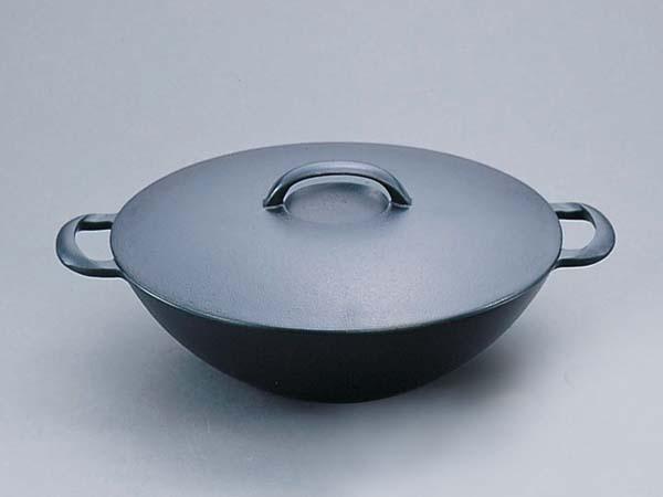 【送料無料】岩鋳製南部鉄器 平型万能鍋(小) ※IH対応