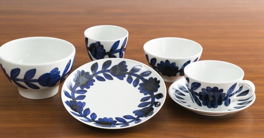 胡發現陶器雛菊雛菊飯碗有田現代有田胡看到的潔具西山日本胡胡發現陶碗餐具板日本陶器西川窯