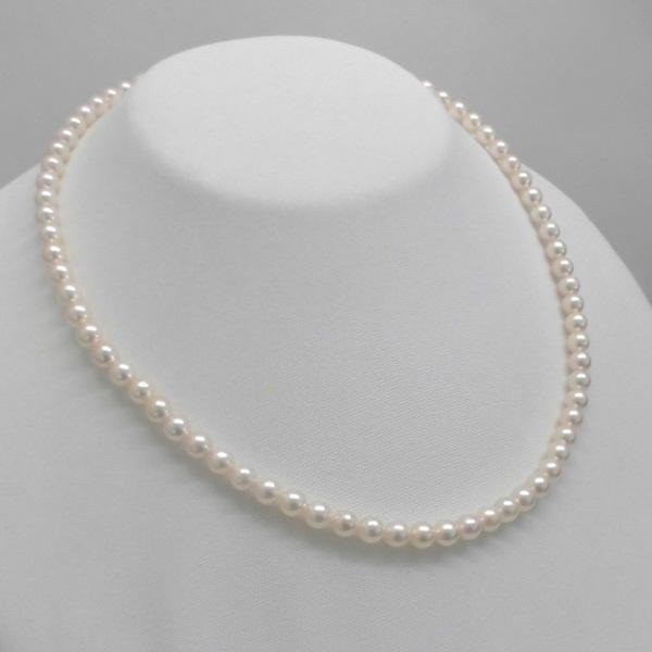 (064)あこや真珠ネックレス5.5mm-6mm ホワイトピンク系ラウンド6系 6月誕生石 長さ約38センチ39センチ40センチ