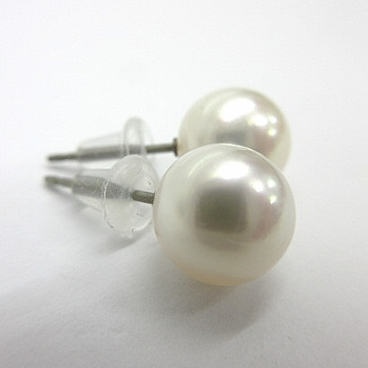 【オーロラ花珠級】AAA(210)純チタンあこや真珠ピアス8mm-8.5mm直結スタッドホワイトピンク金属アレルギー対応シリコンキャッチ本真珠6月誕生石