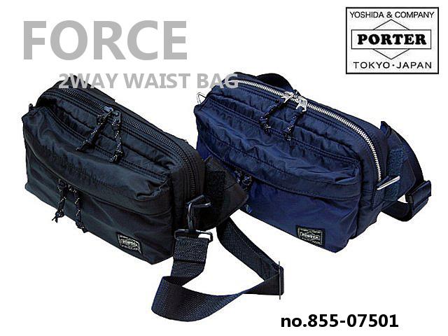 5483b642ebfe Yoshida Kaban PORTER FORCE Porter force 2WAY waist bag 855-07501 Yoshida  bags