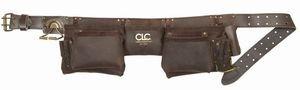 格安SALEスタート CLC 19427 革製腰袋 オイルタン ベルト付 12ポケット 便利もん ダブル 今ダケ送料無料