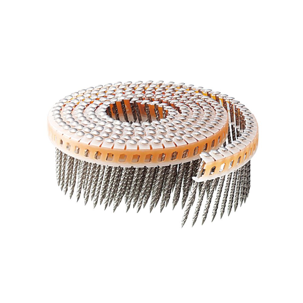 斜めプラ連結釘 ステンレス スクリング 丸頭 1.83×38mm(200本×20巻)