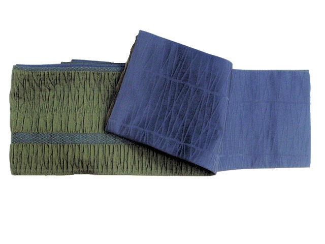 少々難あり〈重ねふくれ織〉正絹細帯