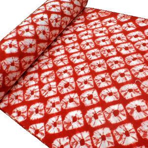 絞り 正絹長襦袢地〈赤〉おしゃれ襦袢 カジュアル