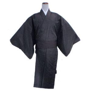 〈少々難あり・在庫処分〉男性用着物 絹交単衣(ひとえ)