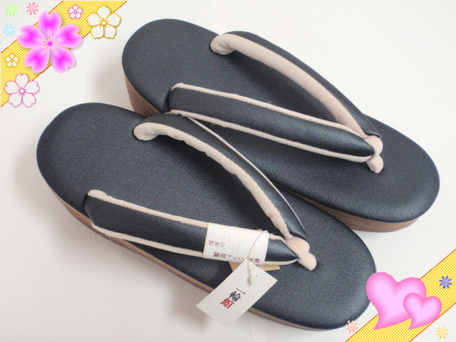 帆布フィット草履〔日本製〕黒・Mサイズ