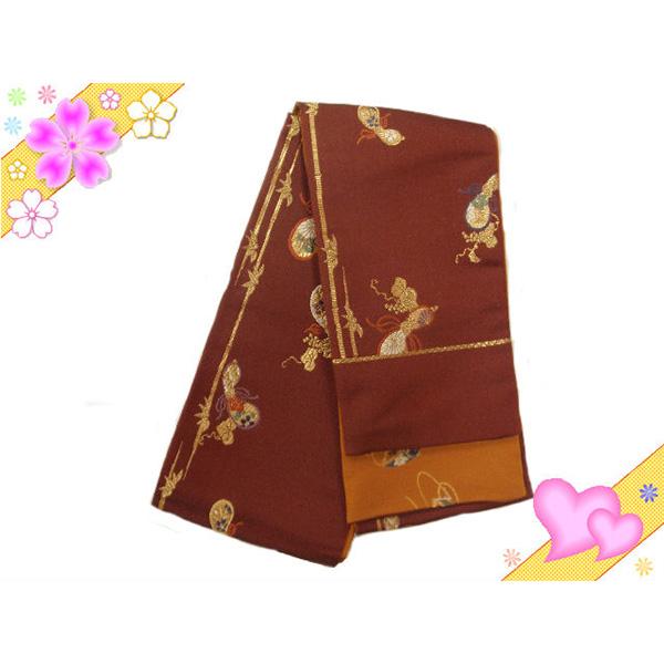 正絹高級リバーシブル小袋帯