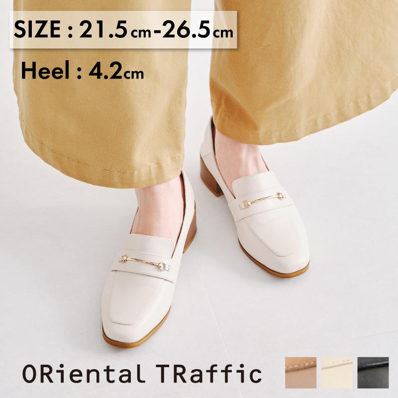 大きい 小さい 靴 21.5~26.4cm S LL 春夏 9 12販売終了予定商品 特別価格 通勤 レディース 1着でも送料無料 やわらかい オリエンタルトラフィック ビットモチーフバブーシュローファー《ORientalTRaffic》 出群 痛くない 送料無料 きれいめ パンプス ブラック