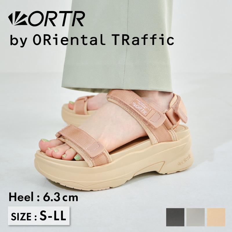 オンラインショッピング 新入荷 流行 大きい 小さい 靴 22.0~25.5cm S LL 春夏 SALE 厚底ベルクロスポーツサンダル《ORientalTRaffic》 歩きやすい 痛くない カジュアル オリエンタルトラフィック スポーティー スポサン アウトドア 楽ちん ORTR