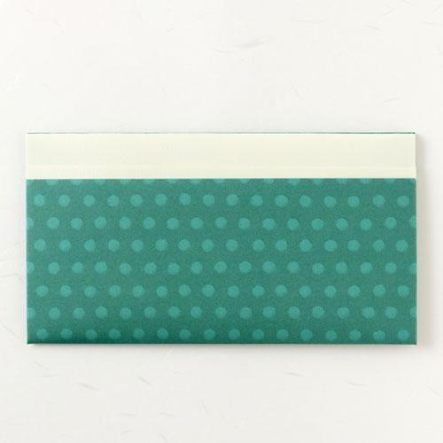 新作アイテム毎日更新 伝統的な折形をベースに作った紙の懐紙入れ: 辻徳 折形懐紙入れ HUTAE 白無地懐紙20枚入り 超特価SALE開催 水玉 緑