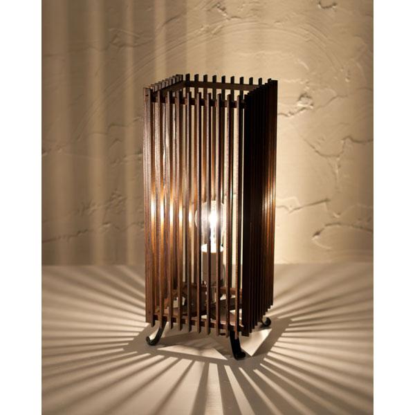 和風スタンドライト 行灯 廉(大) ren-L (A535-T) 民芸塗り仕上げ 杉材と鉄の照明器具 中間調光タイプ(LED非推奨) Japanese style floor lamp made of cedar wood and iron