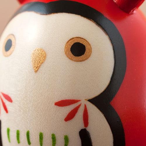 日本城市 + usaburo Kokeshi Kokeshi 娃娃飾品貓頭鷹 Nipponichi & Uzaburou kokeshi 貓頭鷹
