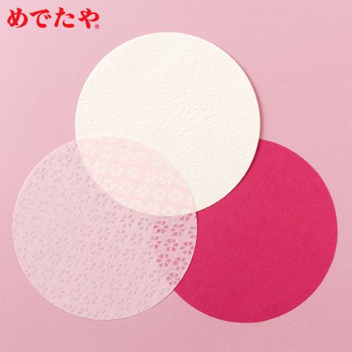 b86a4da4f3f9 Spring color coaster with めでたや sign of spring coaster M 12 pieces (three  colors of for each four pieces)